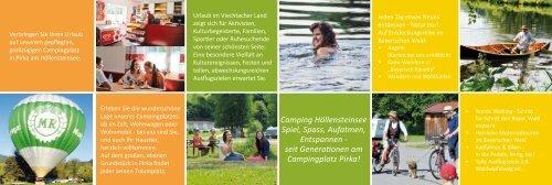 Flyer öffnen (PDF/616 kb) - Campingplatz Pirka in Viechtach Bayern ...