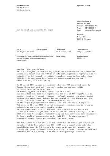 Brief 22 augustus 2006 - Gemeente Nijmegen