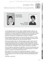 Junge VHS (PDF, 848 KB) - Volkshochschule Dresden