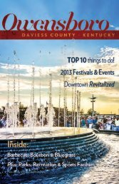 Visitor's Guide - Owensboro-Daviess County Tourist Commission