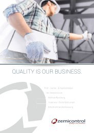 quality is our business - Zemicontrol