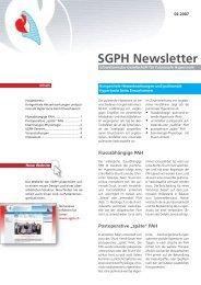 SGPH Newsletter - Schweizerische Gesellschaft für Pulmonale ...