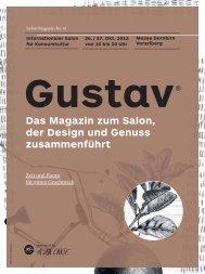 Das Magazin zum Salon, der Design und Genuss ... - Die Gustav