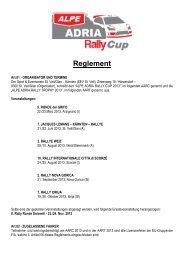 Ausschreibung Alpe Adria Rally Cup 2013 (.pdf) - Jacques Lemans ...