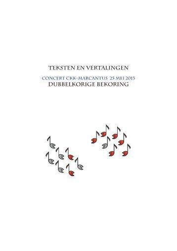 teksten en vertalingen 2013 CKK-Marcantus.indd