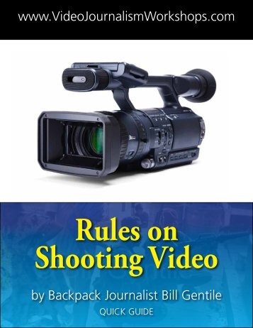 to Download pdf Rules On Shooting Video - Video Journalism ...