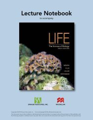 Life: The Science of Biology, 10e - WH Freeman