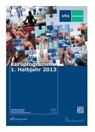 Programmheft Frühjahr 2013 - VHS Lüdenscheid