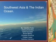 Southwest Asia & The Indian Ocean. - Doral Academy Preparatory