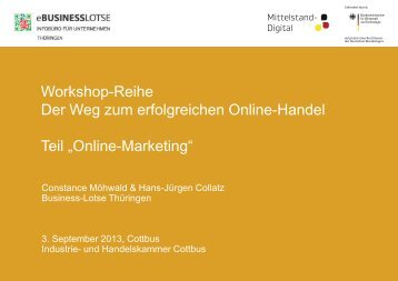 Online-Marketing - eBusiness-Lotse Südbrandenburg