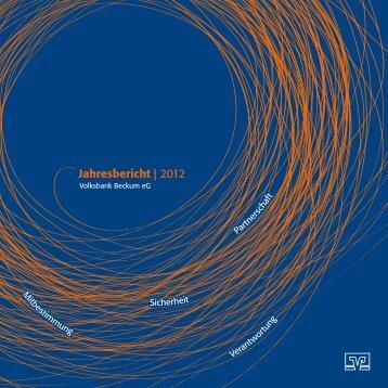 Jahresbericht | 2012 - Volksbank Beckum-Lippstadt eG