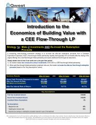 Economics of Building VALUE with Flow-Through Limited Partnerships