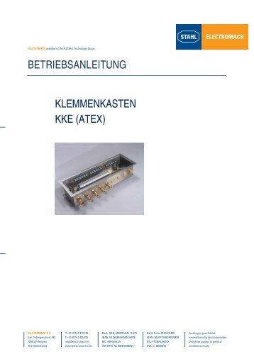 betriebsanleitung klemmenkasten kke (atex) - Electromach