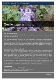 Details im Tagungsflyer (PDF) - Wege zur Fülle