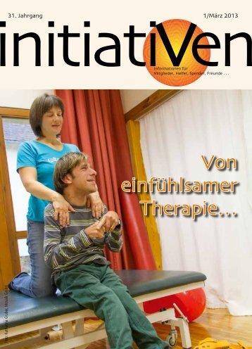 Initiativen 1/März 2013 - Vereine Initiativ für behinderte Kinder und ...