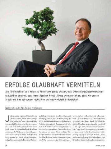 ERFOLGE GLAUBHAFT VERMITTELN - Gtz