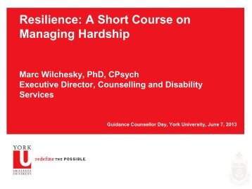 Resilience: A Short Course on Managing Hardship - Future Students