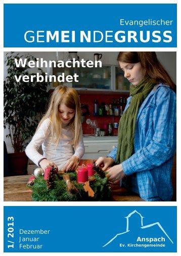 1/2013 Dezember/Januar/Februar - Evangelische Kirchengemeinde ...