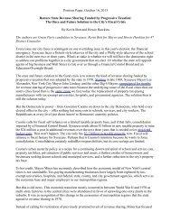 Position Paper, October 16, 2013 Restore State Revenue Sharing ...