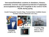 Interannual/latitudinal variations in abundance, biomass ... - PICES