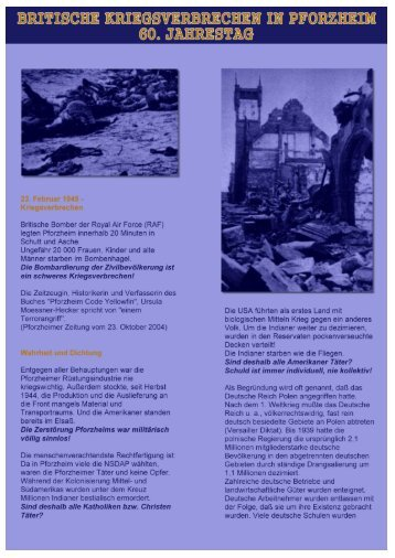 Britische Kriegsverbrechen in Pforzheim - 60 ... - FHD Pforzheim