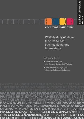 Infobroschüre - Bauhaus-Universität Weimar