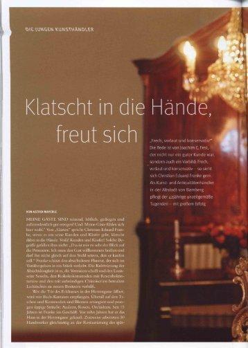 Weltkunst 03/2007 - Bamberger Antiquitäten