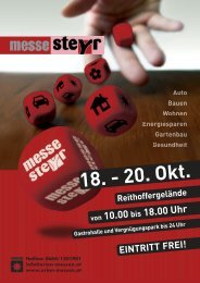 Folder der Steyrer Messe - Pro Gesundheit Steyr