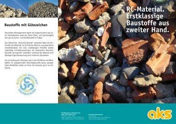 Mineralgemisch Gute Gründe für RC-Material Betonbrechgut