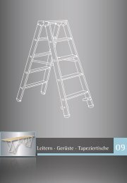 Leitern · Gerüste · Tapeziertische 09 - Werkzeugkatalog Geno