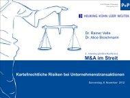 Kartellrechtliche Risiken bei Unternehmenstransaktionen – 473 KB