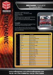 mechanic toolbox - Red Box International