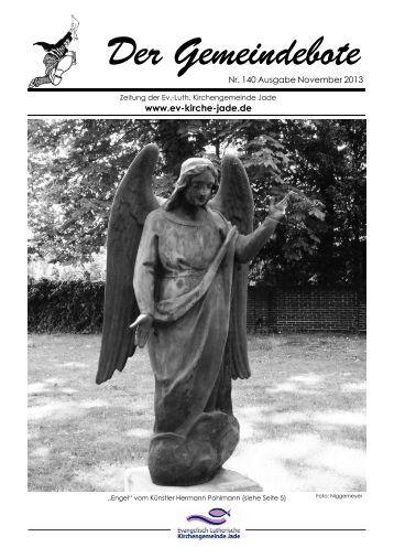 Gemeindebote Nr. 140 vom November 2013 - Evangelisch ...