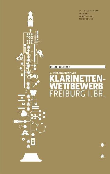 Wettbewerbsbroschüre - Hochschule für Musik Freiburg