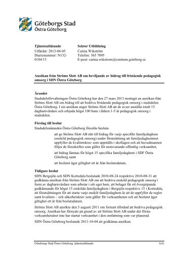 Tjänsteutlåtande Utfärdat: 2013-04-05 Diarienummer ... - Göteborg