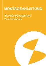 Montageanleitung Vario-GreenLight | DE | 19.12.2013 - ZSD Solar