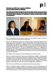 Interview avec Alba Cruz, avocate Interview avec Alba Cruz, avocate ...