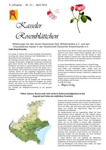 Rundbrief 04 - 2013 - Roseninsel in Kassel