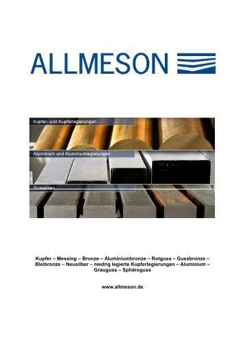 Kupfer – Messing – Bronze – Aluminiumbronze – Rotguss ...