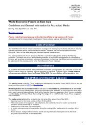 World Economic Forum on East Asia Guidelines and General ...