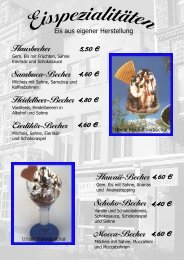 Eiskarte als PDF - Eiscafe