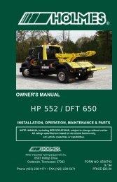 HP 552 / DFT 650 - Crouch's Wrecker & Equipment Sales