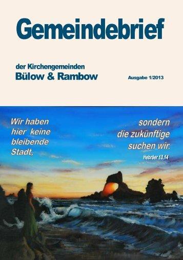 Gemeindebrief 1/2013