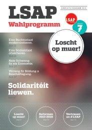 Wahlprogramm - LSAP Wahlen 2013