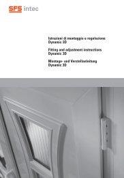 Istruzioni di montaggio e regolazione Dynamic 3D Fitting ...  - SFS intec