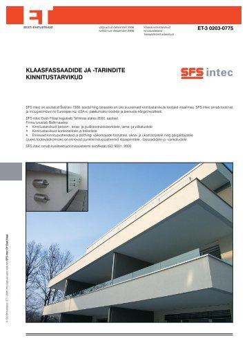 (+) klaasi punktkinnitus - SFS intec