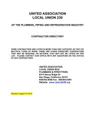 Contractor List - Local 230