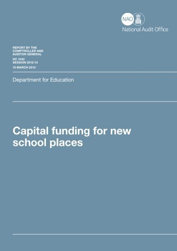 Capital funding for new school places - National Audit Office