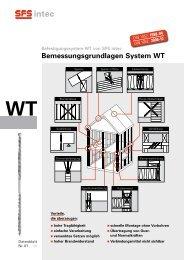 Bemessungsgrundlagen System WT - SFS  intec