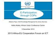 E-Participation through COPs - EuroAfrica-ICT